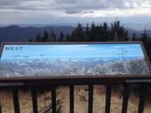 К западу от Mt mitchell Стоковые Изображения