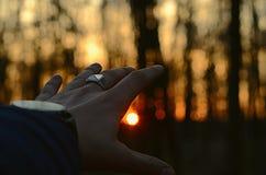 К заходу солнца Стоковое Изображение RF