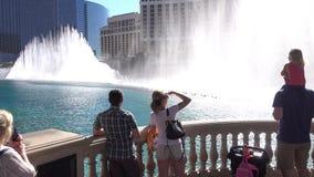 Кливер устанавливая выставку воды Bellagio съемки видеоматериал