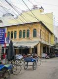 Клиент pedicab ждать на длинном Xuyen Стоковое фото RF