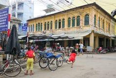 Клиент pedicab ждать на длинном Xuyen Стоковые Фотографии RF