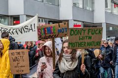 Климат Malmö -го ` s людей март стоковое изображение rf