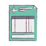Клиника истории запачканная с крестом иллюстрация штока