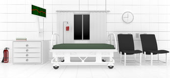 клиническая комната 3d Стоковое Изображение
