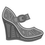 Клин ботинок женщин бесплатная иллюстрация