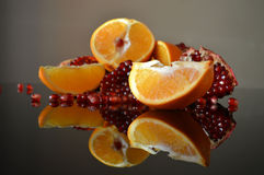 Клин гранатового дерева и апельсина Стоковое фото RF