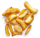 Клин картошки на белизне, сверху Стоковые Изображения RF