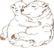 клиппирование медведя содержит путь изображения семьи cropping более легкий приполюсный Стоковое Изображение RF