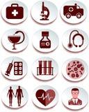 клиппирование содержит комплект путя цифровой иллюстрации иконы медицинский Стоковые Изображения