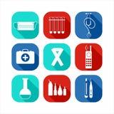 клиппирование содержит комплект путя цифровой иллюстрации иконы медицинский Стоковое Фото