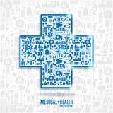клиппирование содержит комплект путя цифровой иллюстрации иконы медицинский Стоковое Изображение