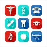 клиппирование содержит комплект путя цифровой иллюстрации иконы медицинский Стоковые Изображения RF