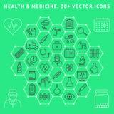 клиппирование содержит комплект путя цифровой иллюстрации иконы медицинский Стоковая Фотография RF