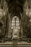 Клирос и органы собора Ливерпуля Стоковое Изображение