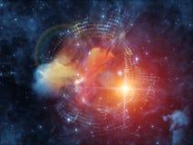 К межзвёздному облаку цифров Стоковое Изображение