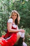 клобук меньший красный riding сексуальный Стоковые Фото