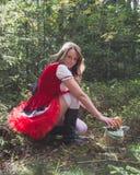 клобук меньший красный riding сексуальный Стоковое Фото
