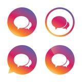 клокочет речь иконы Болтовня или blogging знак Стоковые Изображения RF