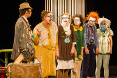 Клоуны актеров стоковое изображение
