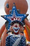 Клоун американца Luna Park масленицы ярмарки потехи Стоковая Фотография