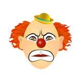 Клоун в гневе, раже, ярости Иллюстрация вектора плоского дизайна Стоковая Фотография RF