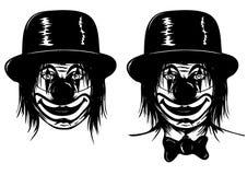 Клоун в голове Стоковое Изображение