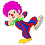 Клоун используя большой шарж связи иллюстрация штока