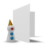 Клоун и пустая карточка Стоковые Изображения