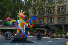 Клоун на воде Стоковая Фотография