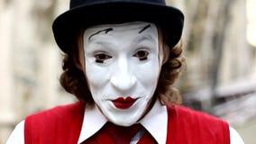 Клоун пантомимы сток-видео