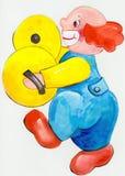 Клоун перкуссиониста Стоковые Фотографии RF