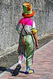 Клоун пестротканое одетое 1 Стоковое Изображение