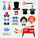 Клоун потехи цирка Стоковые Изображения