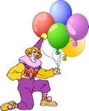 Клоун с воздушными шарами Стоковое Изображение