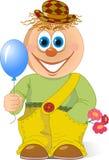 Клоун с воздушным шаром Стоковое Изображение