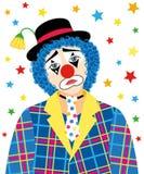 клоун унылый иллюстрация штока
