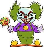 Клоун шаржа страшный злий Стоковое фото RF