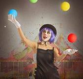 Клоун Juggler стоковая фотография