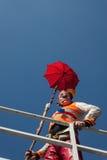 Клоун Moriss принимать фестиваль 2014 клоуна милана Стоковое Изображение RF