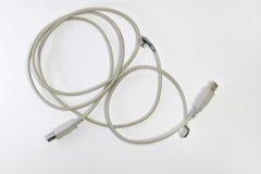 Клочковатый провод usb USB-штепсельные вилки Стоковые Изображения RF