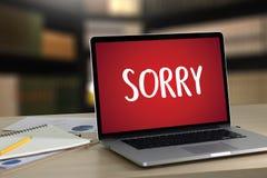 К СОЖАЛЕНИЮ простите терпеть неудачу сожаления Oops ложному сожалению Apolo ошибки недостатка Стоковые Фото