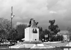 К солдатам убитым в большой войне в черно-белом стоковая фотография rf