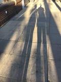 К теням идя на солнечный тротуар Стоковое Изображение