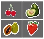 Клубника вишни авокадоа папапайи Стоковое Изображение