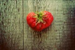 Клубника в форме сердца Стоковая Фотография