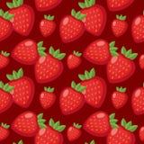 клубника картины безшовная Предпосылка ягоды бесконечная, текстура Fruits предпосылка также вектор иллюстрации притяжки corel Стоковое Изображение RF