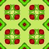 клубника макроса kaleidoscope переднего плана фокуса dof отмелая безшовный вектор текстуры покрасьте вектор возможных вариантов к иллюстрация вектора