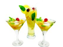 клубника пунша плодоовощ питья коктеила Стоковое фото RF