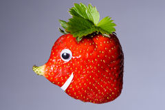 Клубника с естественным, который выросли носом любит сторона Стоковая Фотография