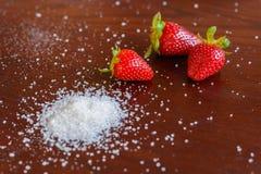Клубника с сахаром Стоковое фото RF